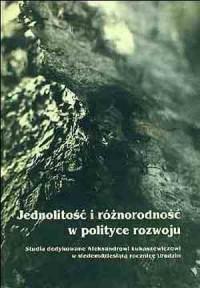 Jednolitość i różnorodność w polityce - okładka książki