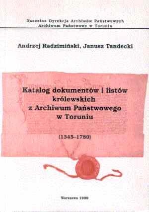 Katalog dokumentów i listów królewskich - okładka książki