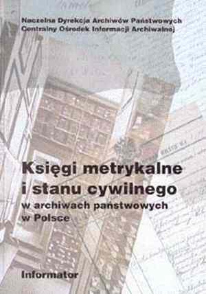 Księgi metrykalne i stanu cywilnego - okładka książki