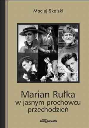 Marian Rułka w jasnym prochowcu - okładka książki