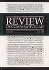 Review of Comparative Law. Vol. 8 Year 2003 - okładka książki