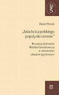 Szlachcica polskiego pojedynki - okładka książki