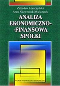 Analiza ekonomiczno-finansowa spółki - okładka książki