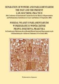 Podział władzy i parlamentaryzm - okładka książki