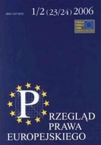 Przegląd prawa europejskiego nr 12 (2324) 2006 - okładka książki