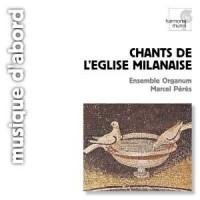 Chants de L Eglise Milanaise - Marcel Peres - okładka płyty