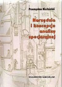 Narzędzia i koncepcje analizy specjacyjnej - okładka książki