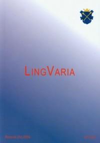 Lingvaria nr 1 (3) 2007 - okładka książki