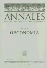 Annales UMCS, sec. H (Oeconomia), vol. XLI - okładka książki