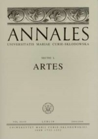 Annales UMCS, sec. L (Artes), vol. IIIIV - okładka książki