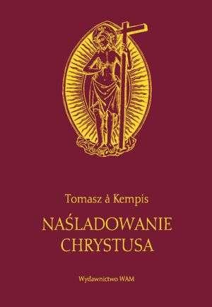 Naśladowanie Chrystusa (bordowa) - okładka książki