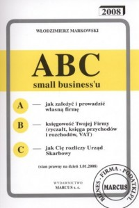 ABC small businessu 1.01.2008 - okładka książki