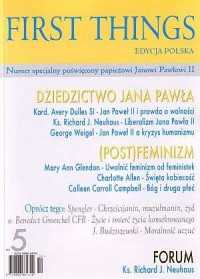 First Things - edycja polska nr - okładka książki