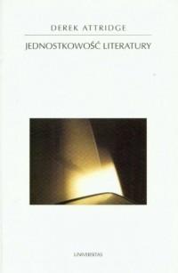 Jednostkowość literatury - okładka książki