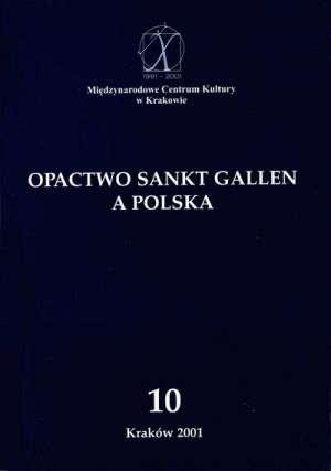 Opactwo Sankt Gallen a Polska - okładka książki