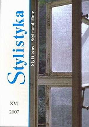 Stylistyka XVI. Styl i czas / Style - okładka książki