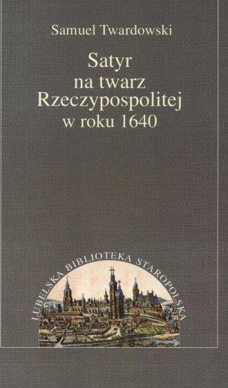 Satyr na twarz Rzeczypospolitej - okładka książki