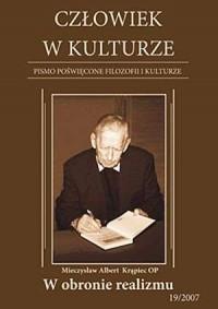 Człowiek w kulturze 19/2007. W obronie realizmu - okładka książki
