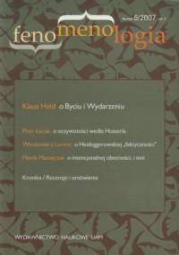 Fenomenologia nr 5/2007 - okładka książki