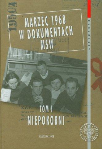 Marzec 1968 w dokumentach MSW. - okładka książki
