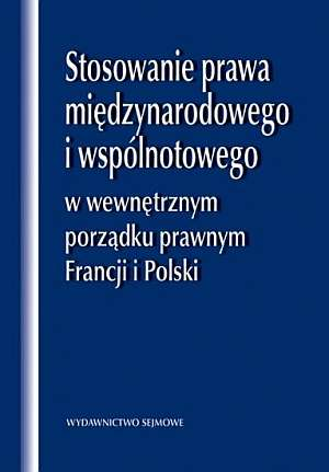 Stosowanie prawa międzynarodowego - okładka książki