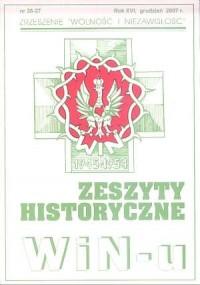 Zeszyty Historyczne Win-u nr 26-27 (grudzień 2007) - okładka książki