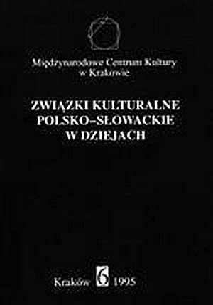 Związki kulturalne polsko-słowackie - okładka książki
