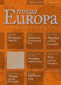 Nowa Europa 1(6) 2008 - Wydawnictwo Ośrodek Myśli Politycznej - okładka książki