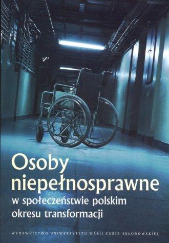 Osoby niepełnosprawne w społeczeństwie - okładka książki