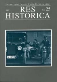 Res Historica. Tom 25 (2007) - okładka książki