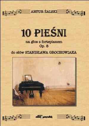 10 Pieśni na głos z fortepianem. - okładka książki