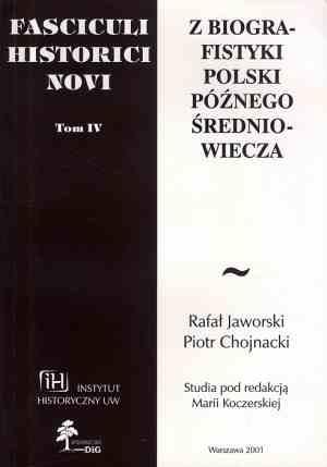 Fasciculi Historici Novi. Tom IV. - okładka książki