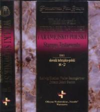 Wielki słownik hebrajsko-polski - okładka książki