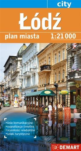 Łódź (plan miasta) - zdjęcie reprintu, mapy