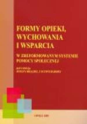 Formy opieki, wychowania i wsparcia - okładka książki
