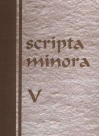 Scripta minora V - Bohdana Lapisa - okładka książki