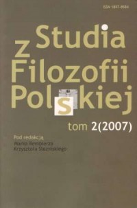 Studia z filozofii polskiej. Tom 2/2007 - okładka książki