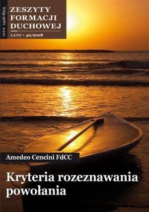 Zeszyty Formacji Duchowej nr 40. - okładka książki