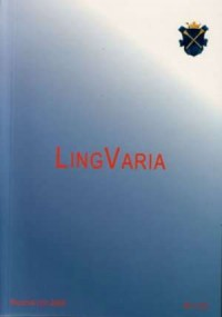 Lingvaria nr 1 (5) 2008 - Wydawnictwo Księgarnia Akademicka - okładka książki