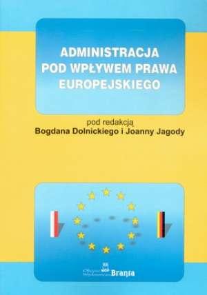 Administracja pod wpływem prawa - okładka książki