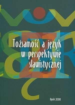Tożsamość a język w perspektywie - okładka książki