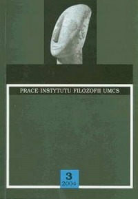 Anthropos. Prace Instytutu Filozofii UMCS nr 3 (2004) - okładka książki