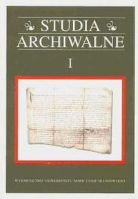 Studia Archiwalne I - okładka książki