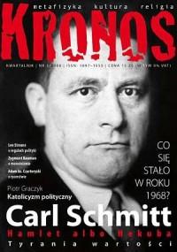 Kronos nr 32008. Carl Schmitt - okładka książki