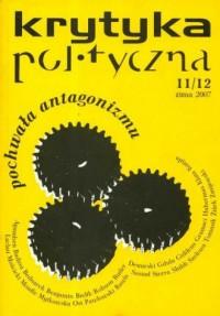 Krytyka polityczna 11/12 zima 2007 - okładka książki