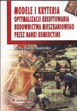 Modele i kryteria optymalizacji - okładka książki