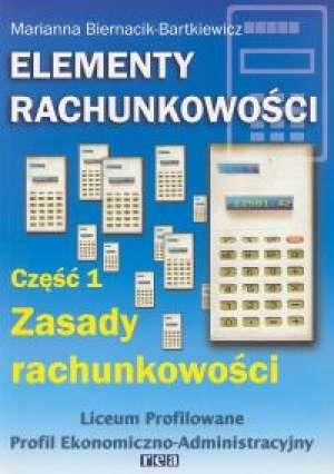 Elementy rachunkowości cz. 1. Zasady - okładka podręcznika