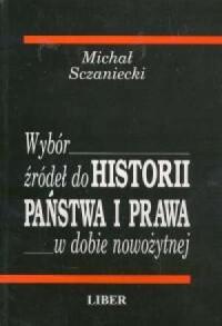 Wybór źródeł do Historii państwa i prawa - okładka książki