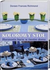 Kolorowy stół - okładka książki