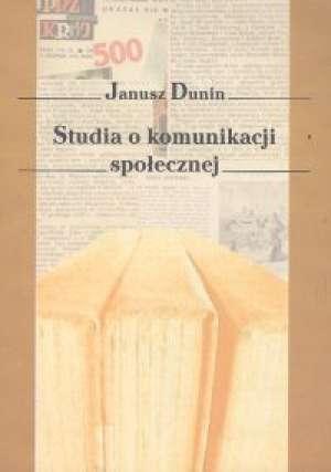 Studia o komunikacji społecznej - okładka książki